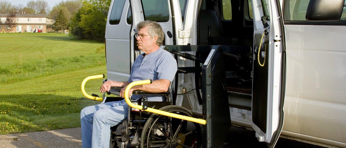 senior man on a wheelchair